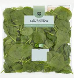 Co-op baby spinach