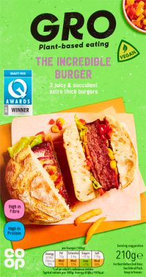 Co-op GRO Incredible Burger - vegan burger