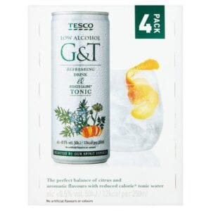 Alcohol-free virgin gin & tonic from Tesco