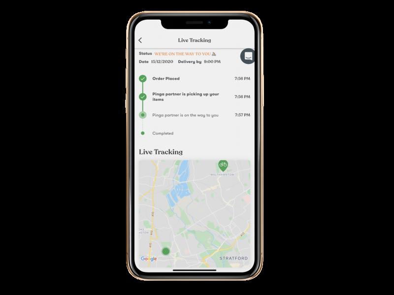Pinga app live map tracking