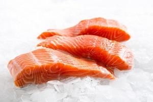 Sashimi grade salmon fillets